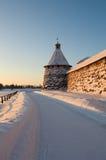 Kind on the Solovetsky monastery. Stock Photos