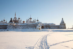 Kind on the Solovetsky monastery. Royalty Free Stock Photo