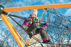 Kind am Spielplatz Lizenzfreies Stockbild