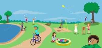 Kind-Spielplatz 2 stock abbildung
