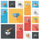 Kind spielt flachen ui Hintergrund, eps10 Lizenzfreie Stockbilder