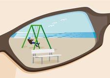 Kind am Strand stockbild