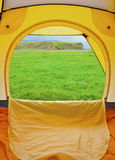 Kind from tent Stock Image