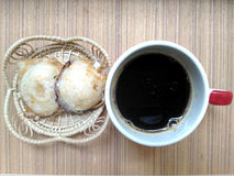 Kind of Thai sweetmeat  and coffee Royalty Free Stock Photography