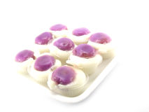 Kind of thai sweetmeat. Colorful thai dessert on white background Stock Photography
