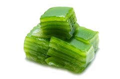 Kind of Thai sweetmeat. Isolated on white background Royalty Free Stock Photography