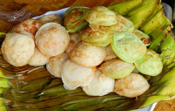 Kind of Thai sweetmeat - Kanom krok Stock Photography