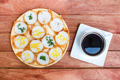 Kind of Thai sweetmeat or Kanom Krok. Royalty Free Stock Photo
