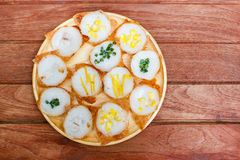 Kind of Thai sweetmeat or Kanom Krok. Royalty Free Stock Photography