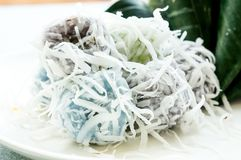 Kind of Thai sweetmeat. Are made from coconut Royalty Free Stock Photography