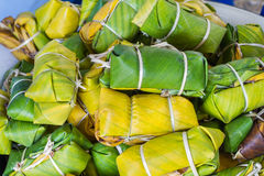 Kind of thai sweetmeat named Khao Tom Mad Royalty Free Stock Photography