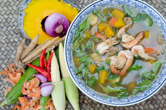 Spicy mixed vegetable soup (Kaeng Liang) Royalty Free Stock Image