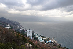 Kind to Black sea around Yalta from mountain Royalty Free Stock Image