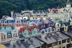 Kind to Kiev from height. Many different houses removed from height in Kiev Royalty Free Stock Photo