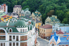Kind to Kiev from height. Many different houses removed from height in Kiev Stock Images
