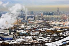 Kind to Moscow. Panoramic kind to winter Moscow Royalty Free Stock Photo