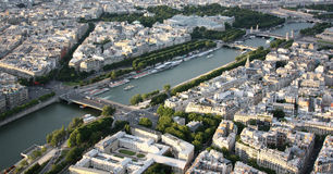 Kind to Paris from Tour d'Eiffel height Stock Images
