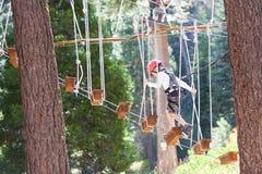 Kind am Treetoppark Lizenzfreies Stockfoto