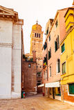 Kind of typical street in the old town. Venice. Italy Royalty Free Stock Images