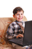 Kind und Computer stockfoto