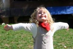 Kind und Frühling Stockfotos