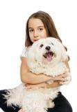Kind und Hund Stockfotografie