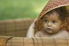 Kind und Hut Stockfotos