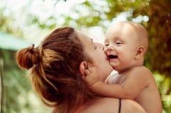 Kind und Mutter Stockfoto