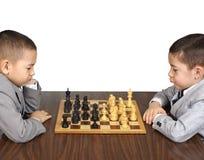 Kind und Schach Lizenzfreies Stockbild