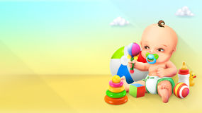Kind und Spielzeug Stockfotografie