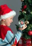 Kind- und Weihnachtsgeschenke Stockfoto