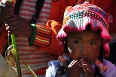 Kind van Peru royalty-vrije stock fotografie