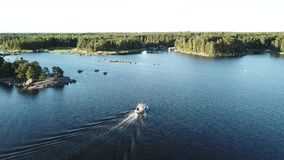 This kind of view is quite usual here in archipelago of Finland stock video footage
