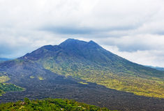Kind on a volcano of Batur Royalty Free Stock Photo