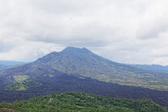 Kind on a volcano of Batur Stock Photography