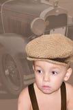 Kind von den Zeiten vorbei gegangen Stockfoto