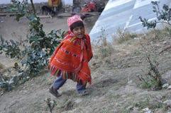 Kind von Peru Lizenzfreies Stockfoto