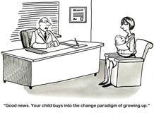 Kind wächst heran vektor abbildung
