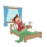 Kind wachen morgens auf Lizenzfreie Stockfotos