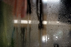Kind of water. Steamed window. good for background Royalty Free Stock Photo