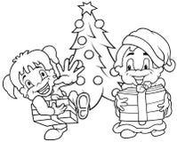Kind-Weihnachten Lizenzfreie Stockfotografie