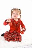 Kind-Weihnachtsverzierungen Lizenzfreie Stockfotos