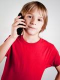 Kind Whittelefon Lizenzfreies Stockbild