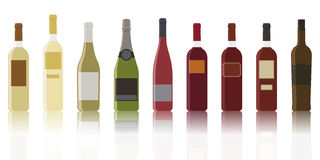 Kind of wines Royalty Free Stock Photos