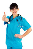 Doctor Showing Thumbsup Stock Photos