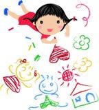Kind-Zeichnen stock abbildung
