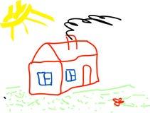 Kind-Zeichnen Stockfoto