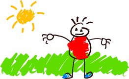 Kind-Zeichnen Stockbilder