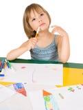 Kind zeichnet lizenzfreie stockfotografie