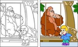 Kind am Zoo Lizenzfreie Stockfotos